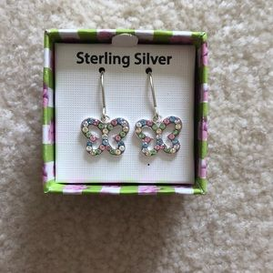 Swarovski Crystal Butterfly Earrings